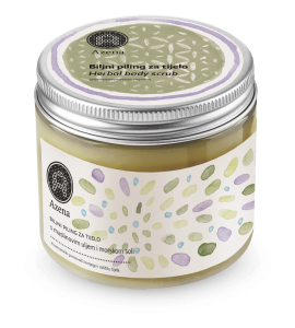 Azena herbal body and face exfoliator - olive pits&sea salt